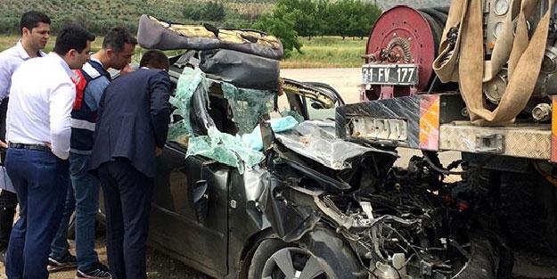 Hatay'da feci kaza! Baba ve oğlu öldü