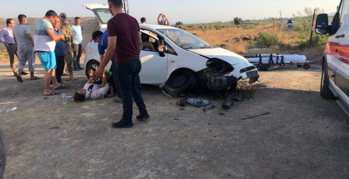 Hatay'da otomobil şarampole yuvarlandı: 3'ü çocuk 5 kişi yaralı