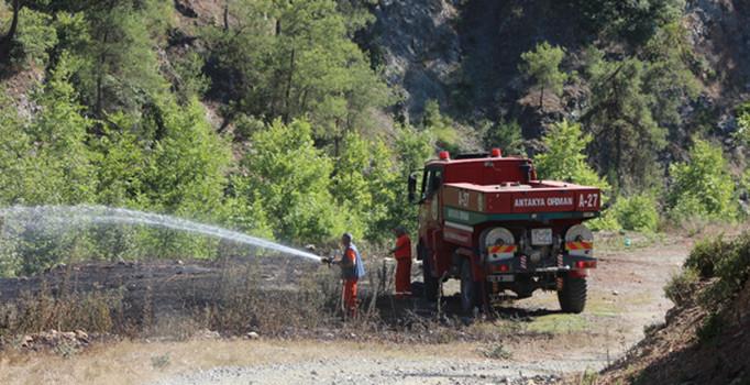 Hatay'ın Arsuz ilçesinde korkutan orman yangını