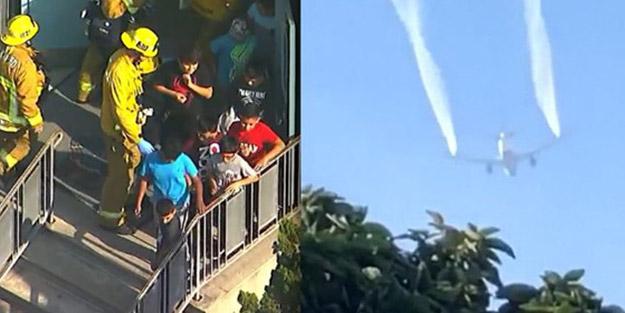 Havadan yakıt yağdı! Feci olayda çoğu çocuk 60 kişi rahatsızlandı