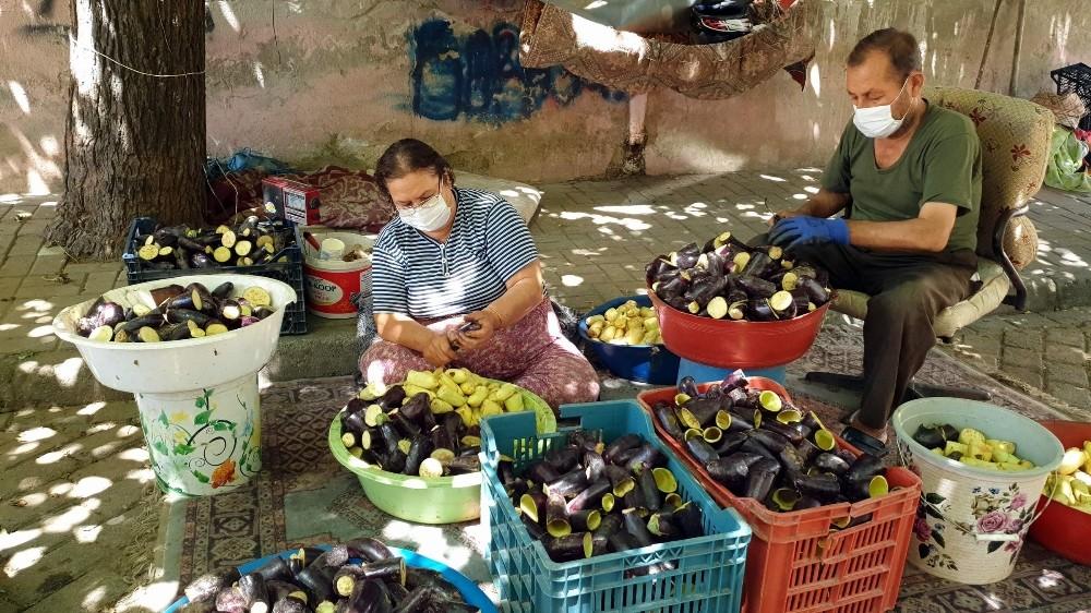 Havalar ısınınca 'Patlıcan Vadisi' hareketlendi