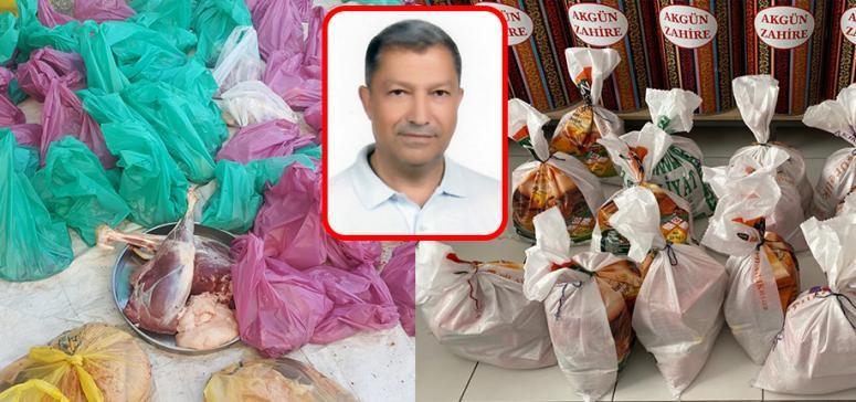 Hayırsever iş adamı Emre'den 200 aileye gıda yardımı