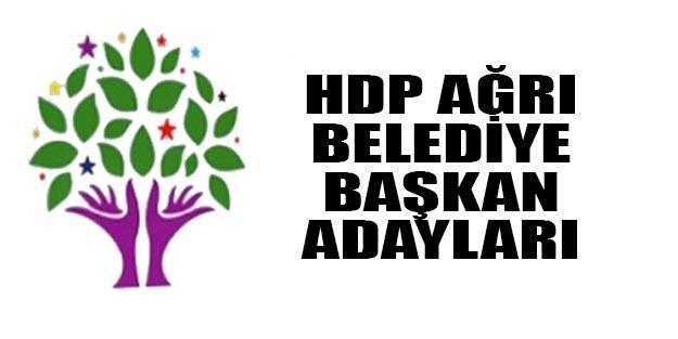 HDP Ağrı belediye başkan adayları 2019 kim?