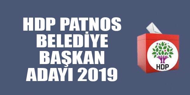 HDP belediye başkan adayları 2019 Patnos