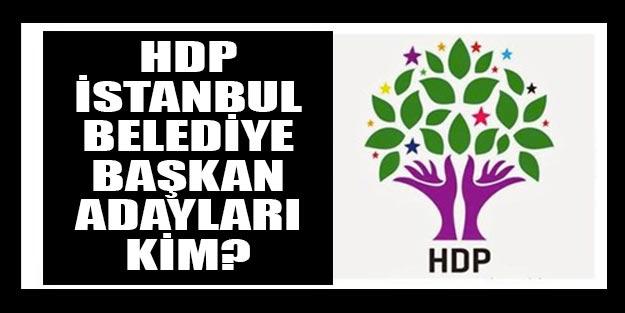 HDP İstanbul belediye başkan adayları 2019