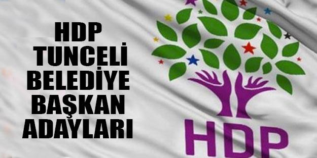 HDP Tunceli ilçe belediye başkan adayları 2019