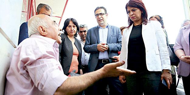 HDP'liler Sur'da yuhalandı