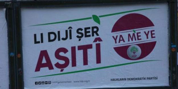 HDP'nin pankartı, üzerindeki bu yazı nedeniyle kaldırıldı