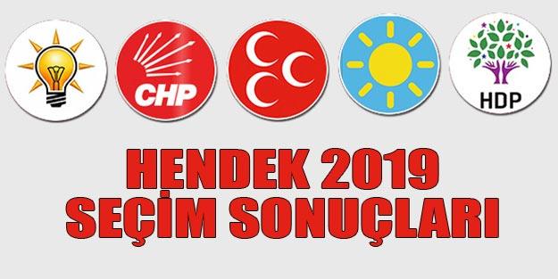Hendek seçim sonuçları 2019 | Sakarya Hendek 31 Mart seçim sonuçları oy oranları