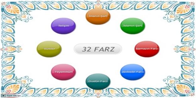 Her müslümanın bilmesi gereken 32 farz