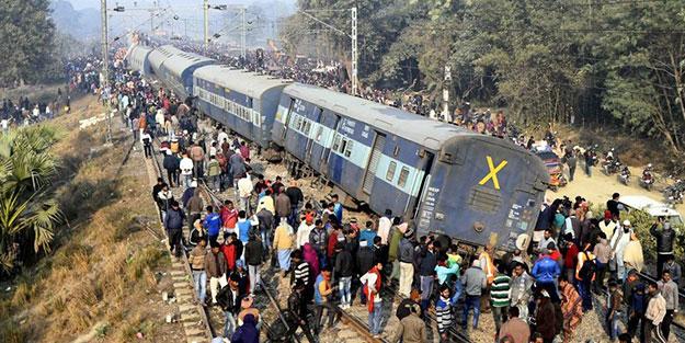 Hindistan'da tren raydan çıktı: 7 ölü