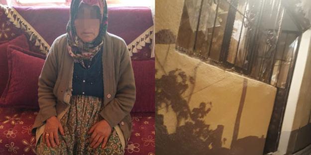 Hırsızlık için girdiği evde yaşlı kadına saldırdı