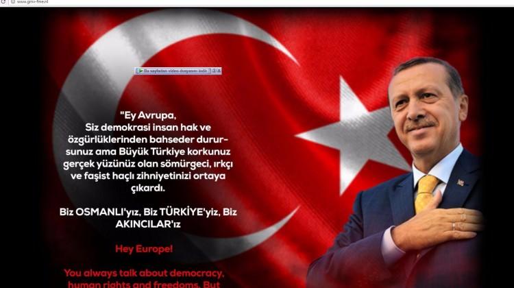 Hackerlar Hollanda Merkez Bankasına Erdoğan fotoğrafı koydular