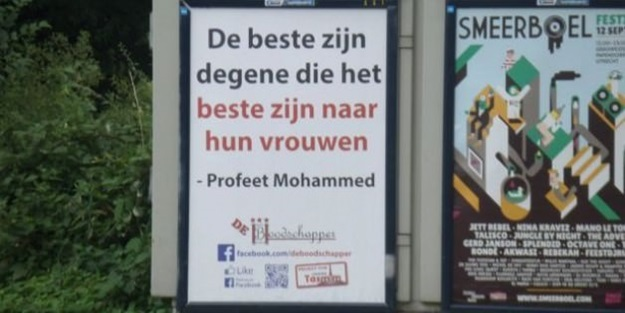 Hollanda'da Hadis-i Şerifli afişler!