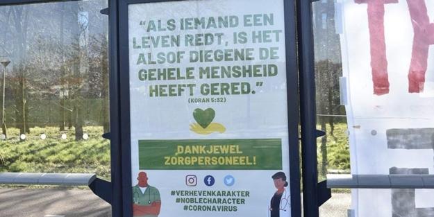"""Hollandalı sağlıkçılara ayetli teşekkür! """"Maksadımız..."""""""