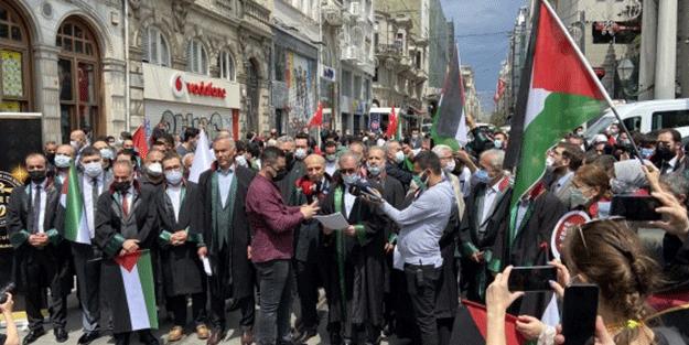 Hukuçular Derneği'nden İsrail protestosu