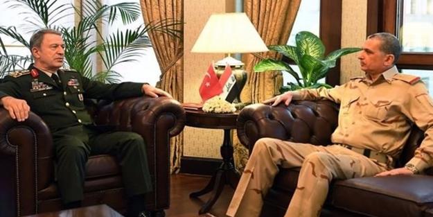 HULUSİ AKAR, IRAK GENELKURMAY BAŞKANI'YLA GÖRÜŞTÜ