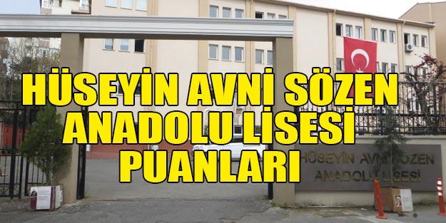 Hüseyin Avni Sözen Anadolu Lisesi taban puanı 2019
