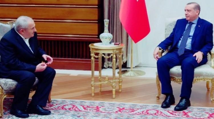 Hüsnü Ağabey Cumhurbaşkanı Erdoğan ile Külliye'de görüştü