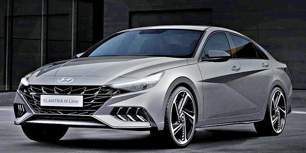 Hyundai yeni Elantra N Line'ın çizimlerini paylaştı - Yeni ...