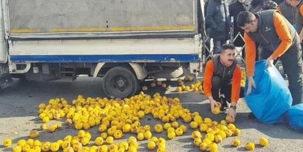 İBB önünde ayvalı protesto! Seyyar satıcının mallarını çürütüp iade ettiler