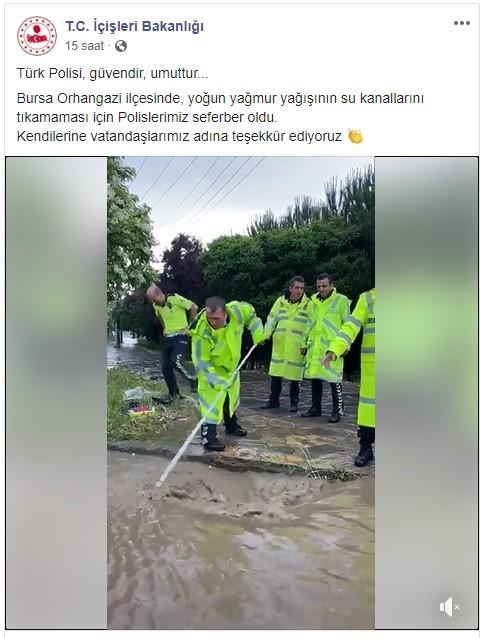 İçişleri Bakanı Soylu'dan Bursalı o polislere teşekkür
