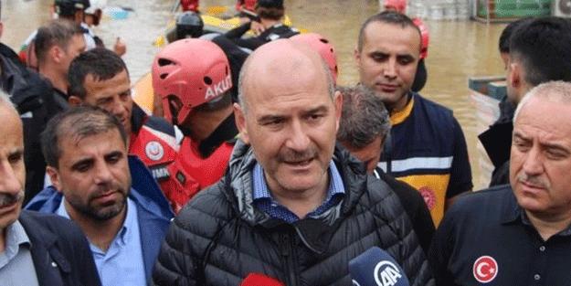 Bakan Soylu, Murgul'daki selde hayatını kaybeden Serdar Yiğit'in cenaze törenine katıldı