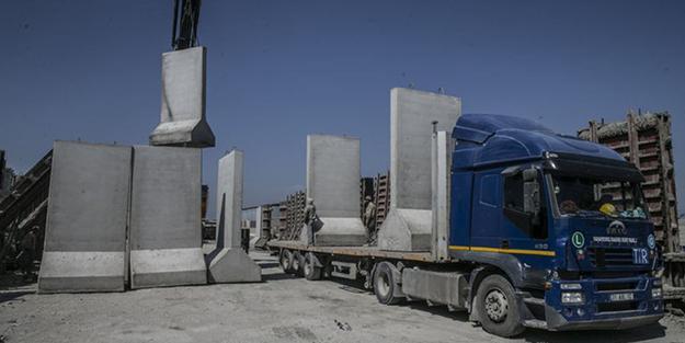 İdlib çevresine beton blok