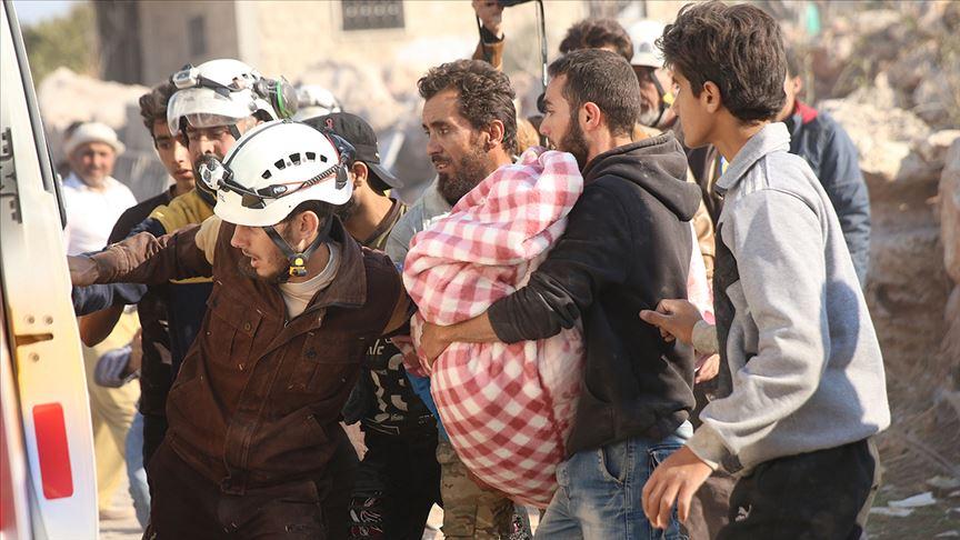 İdlib'de 25 günde 50 bin sivil yerinden edildi 100 sivil öldürüldü