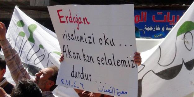 İdlib'de halk sokağa indi! 'Türk askeri gelsin'