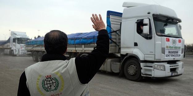 İHH yardım tırı Suriye'de vuruldu!