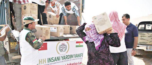 iHH, Suriyeli Kürtleri unutmadı