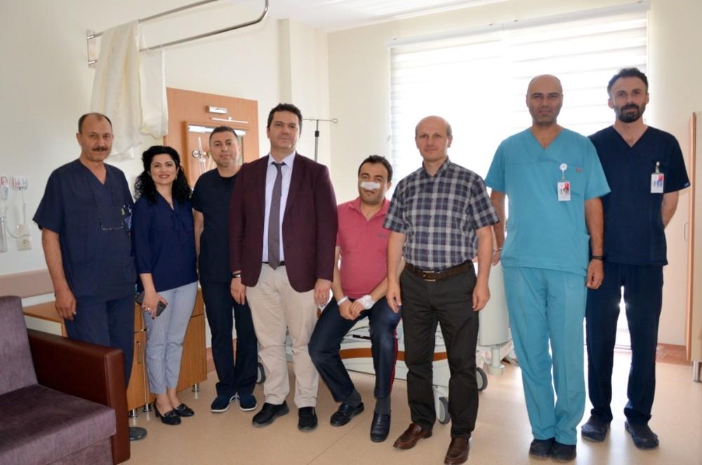İl Sağlık Müdürü Bilge'nin hasta ziyareti