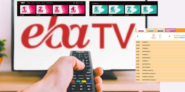 İnternet üzerinden EBA TV canlı ders nasıl izlerim? TRT EBA TV izle