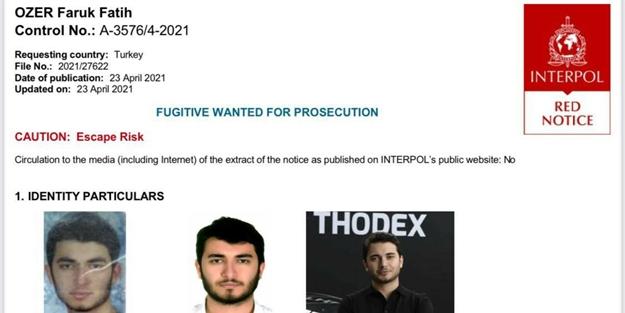 İnterpol Thodex'in kurucusu Faruk Fatih Özer'in peşine düştü