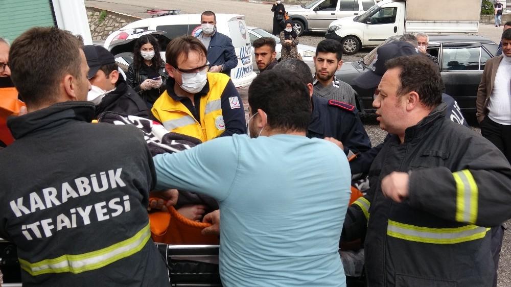 İntihara kalkışan kadını itfaiye ekipleri balkondan girerek kurtardı
