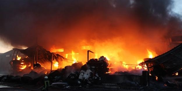 İplik fabrikasında yangın çıktı!