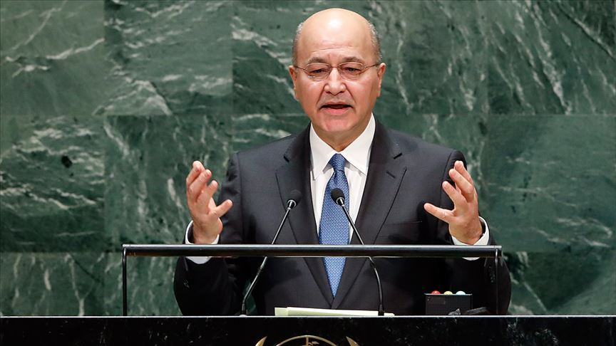 Irak Cumhurbaşkanı Berhem Salih: Irak'ın komşu ülkelere saldırı noktası olmasını kabul etmeyiz