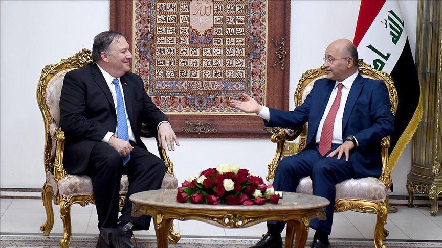 Irak Cumhurbaşkanı ve ABD Dışişleri Bakanı 'DEAŞ ile mücadeleyi' görüştü