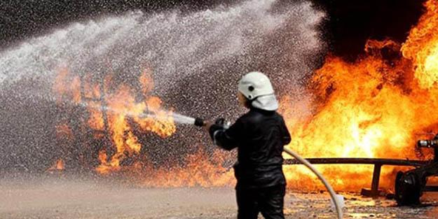 Irak'ta büyük yangın: Onlarca iş yeri kül oldu