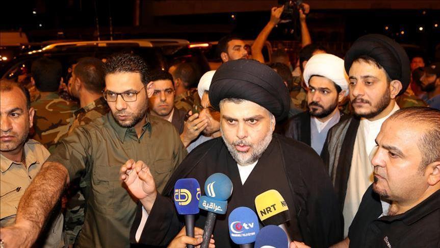 Irak'ta Şii lider Sadr, Necef'teki gösterilere katıldı