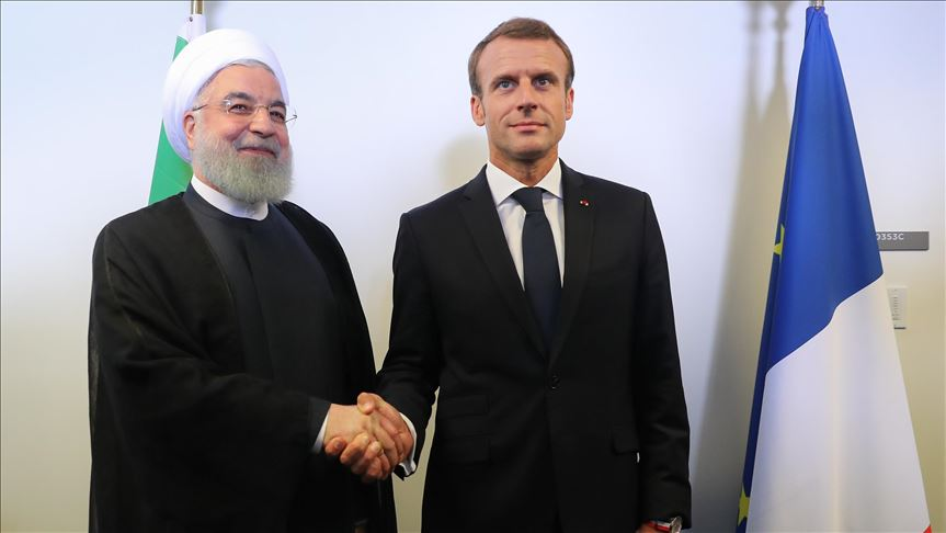 İran Cumhurbaşkanı Hasan Ruhani ile Macron bölgesel gelişmeleri görüştü