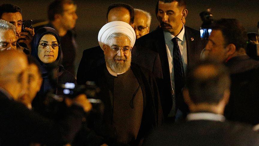 İran Cumhurbaşkanı Hasan Ruhani, Üçlü Zirve için Ankara'da