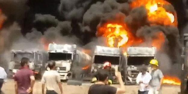 İran'da 6 tanker alev alev yandı