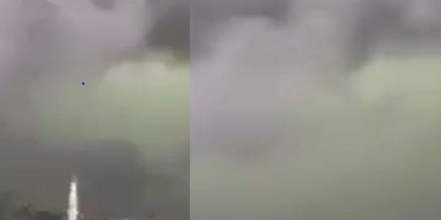 İran'da dehşete düşüren görüntü! Bulutlar yeşil oldu
