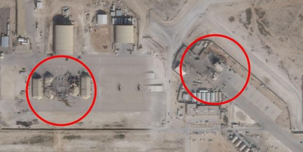 Büyük yalan ortaya çıktı! İran'ın 'vurduğu' ABD'ye ait üslerin uydu fotoğrafları yayınlandı