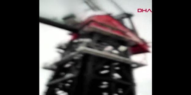 İşçiler şok oldu! Çanakkale köprüsü ayağına yıldırım düştü