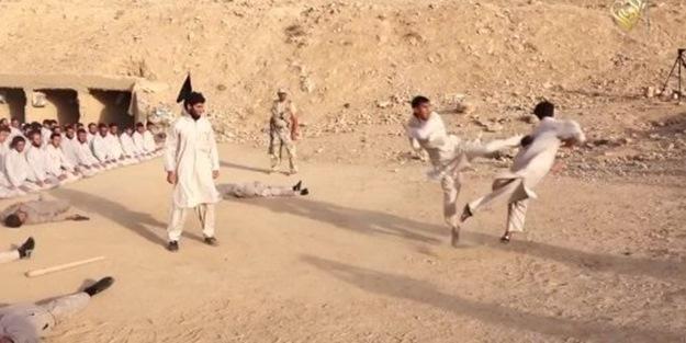 IŞİD kampı böyle görüntülendi