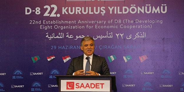 İsim vermeden Erdoğan'ı eleştiren Abdullah Gül, Saadet'e böyle göz kırptı!