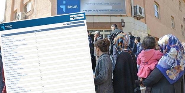 İŞKUR iş ilanları | İŞKUR kamu personel alımı güncel iş ilanları